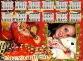 Calendário 2017 Papai Noel da Coca Cola