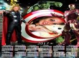Calendário 2017 Tor Hulk e IronMan