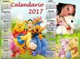 Calendário 2017 Pote de Mel Ursinho Pooh