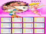 Calendário 2017 Xuxinha e Guto