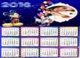 Calendário Minnie Balões de Aniversário 2016