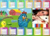 Calendário 2017 Horizontal Galinha Pintadinha