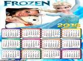 Calendário Princesa Frozen 2016