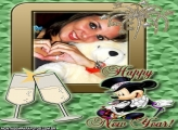 Moldura Mickey Happy New Year
