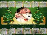 Calendário 2017 Duas Árvores de Natal