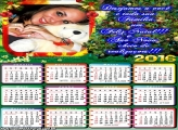 Calendário com Mensagem Natalina 2016