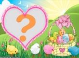Coração Ovos de Páscoa Felizes