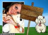Cadelinha Poodle Branca