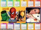 Hulk Spider Man Wolverine Calendário 2016