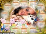 Calendário 2014 3 Porquinhos
