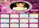 Calendário 2018 de Flores Lindas