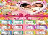 Calendário 2014 Grátis Moldura