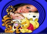 Moldura Pooh e Tigrão Amigos