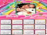 Calendário Fadinha Arco-íris 2016
