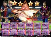 Calendário 2017 Barcelona Time Futebol