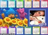 Calendário Pocoyo 2016 Horizontal