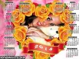 Calendário Flores Amarela 2014