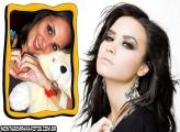 Cantora Demi Lovato Moldura