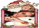 Moldura Papai Noel e Rena