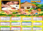 Calendário Três Porquinhos 2013