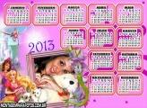 Calendário Barbie Cães 2013