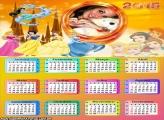 Calendário 2015 Todas Princesas