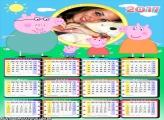 Calendário 2017 Peppa Pig Família