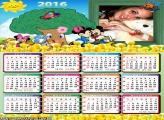 Calendário Mickey e Minnie Escola 2016