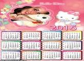 Calendário Gatinha Hello Kitty 2016