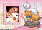 Gatinha Marie e Gatos Moldura