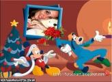 Moldura Natal Mikey e Pateta