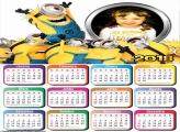 Calendário 2018 dos Minions