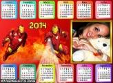 Calendário 2014 Homem de Ferro