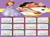 Calendário 2016 Princesa Sofia Disney