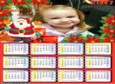 Calendário 2017 com Papai Noel FotoMoldura