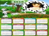 Calendário 2018 Dálmatas Desenho
