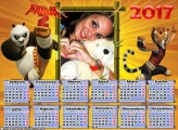Calendário 2017 Kung Fu Panda 2