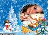 Moldura Pai Noel no Trenó