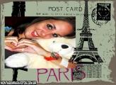 Moldura Cartão Postal Paris