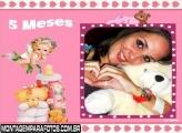 Moldura Rosa Bebê 5 Meses