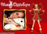 Moldura Feliz Natal Boneca