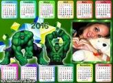 Calendário do Personagem Hulk 2016