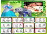Calendário Elefante Tica Da Barbie 2016