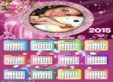 Calendário 2015 Flores Arranjo