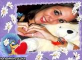 Cãozinho Flores Moldura