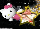 Moldura Hello Kitty 3D Estrelas