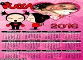 Calendário Pucca Coração 2016