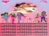 Calendário Barbie Jovem Pop Star 2016