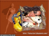 Pocahontas com Animalzinho