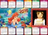 Calendário 2018 Horizontal Princesa Ariel